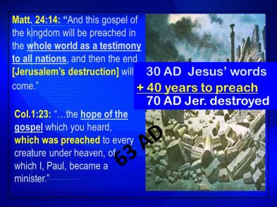 Gospel Preached to the World - 3