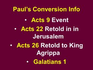 Paul in Jerusalem