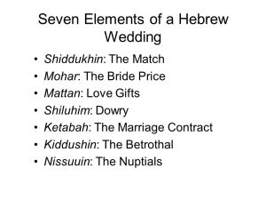 Hebrew Wedding