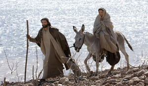 Mary and Joseph going to Bethlehem