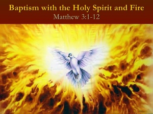 Baptism of the Spirit and Fire