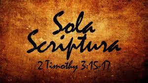 sola scriptura - 1