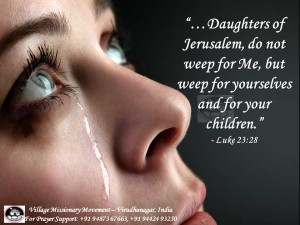 Women weep for Jesus